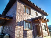 полноразмерный дом с тремя перекрытиями отделка  клинкер