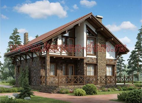 проект дома шале КЕЛЬН