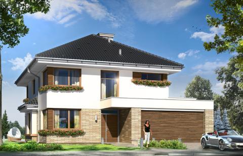 проект классического дома с тремя перекрытиями