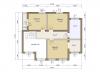 Планировка  дома шале 165 2 этаж