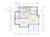Планировка  дома шале 214 1 этаж