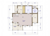 Планировка  дома шале 165 1 этаж